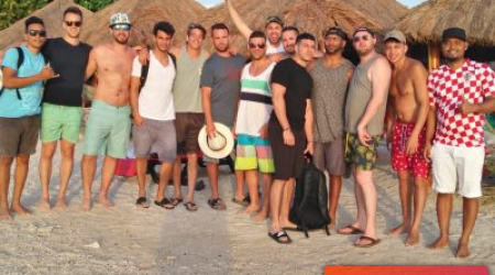 Cartagena Bachelor Party Group At Playa Blanca Beach