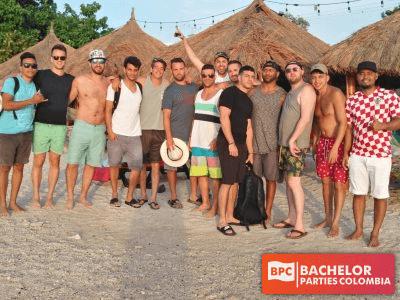 Cartagena Bachelor Party Group At Playa Blanca Beach