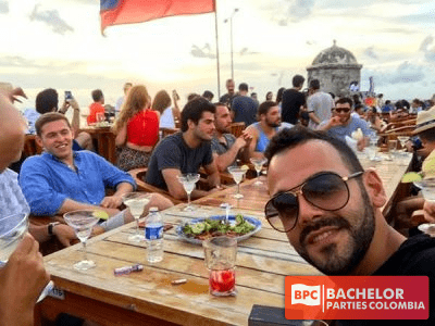 Cartagena Bachelor Party Group Having Fun