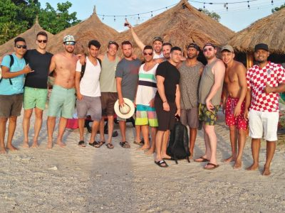 Cartagena Bachelor Party Group on the beach