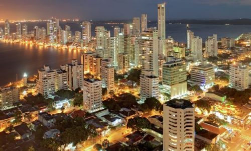 Cartagena Colombia Night View Of The City